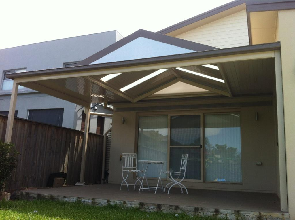 Gable pitched roof sydney solarguard awnings for Roof awning design