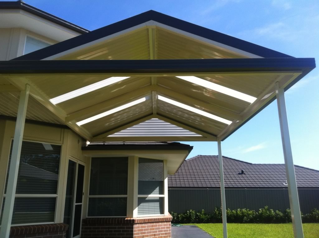 Gable pitched roof sydney solarguard awnings for Houses with gable roofs
